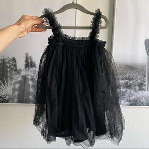Tulle black dress, toddler girl size 2T